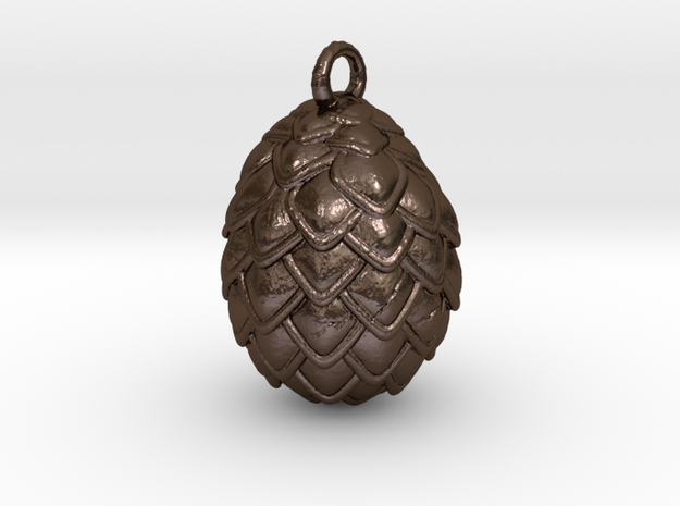 Dragon Egg Pendant in Polished Bronze Steel
