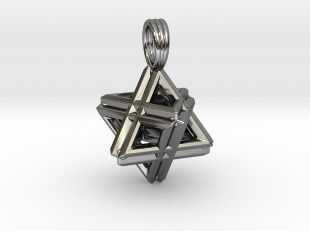 QUAD MERKABAH in Premium Silver