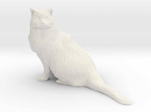 Birman Cat 001 - 150mm in White Natural Versatile Plastic
