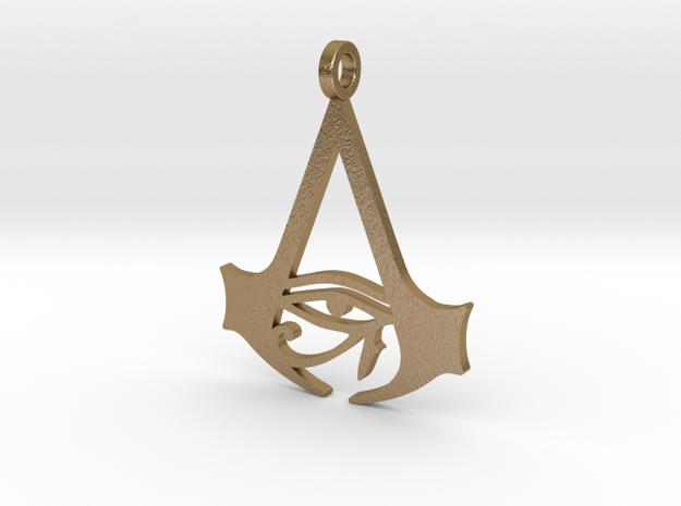 AC Origins Keychain in Polished Gold Steel