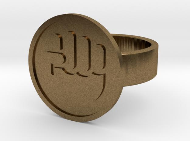 Raised Fist Ring in Raw Bronze: 10 / 61.5
