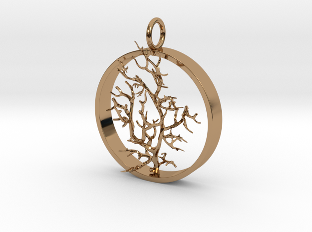 Coral Pendant SMK Contest in Polished Brass