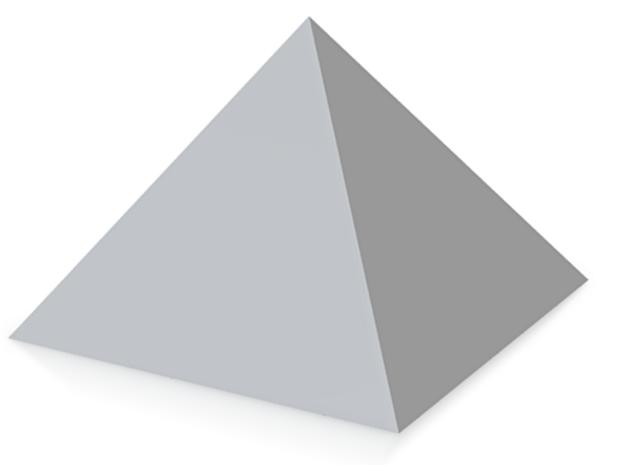 三角.stl in White Strong & Flexible: Small