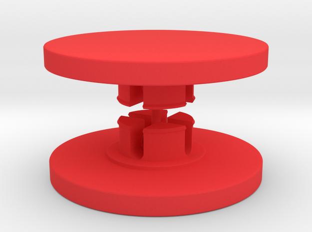 Customisable Fidget Spinner Caps for 608 Bearings in Red Processed Versatile Plastic