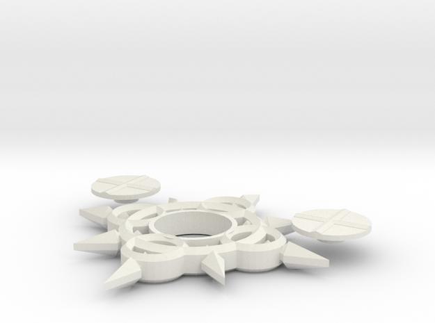 Axel Chakram Spinner in White Natural Versatile Plastic