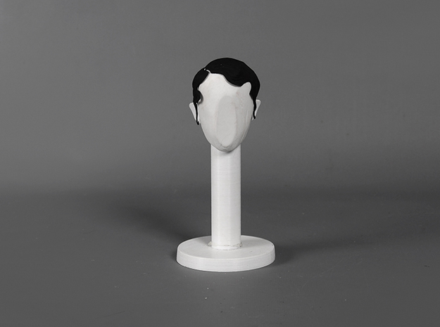Cold Wave - Right Part in Black Natural Versatile Plastic: Small