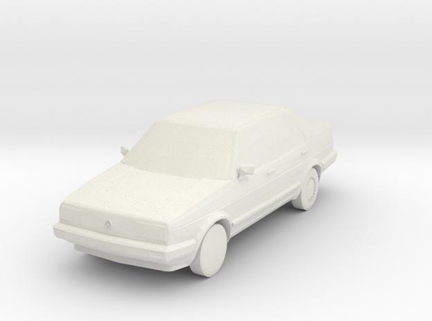 VW Jetta MK2 S scale in White Natural Versatile Plastic