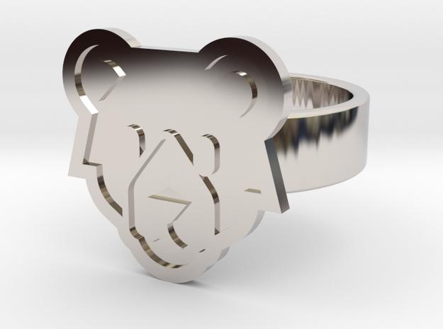 Bear Ring in Rhodium Plated Brass: 10 / 61.5