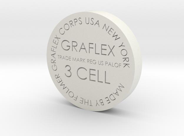 Graflex bottom 34mm in White Strong & Flexible