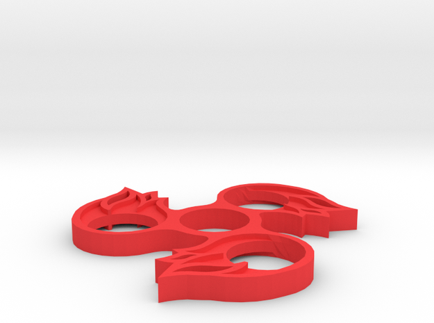 Fireball Fidget Spinner in Red Processed Versatile Plastic