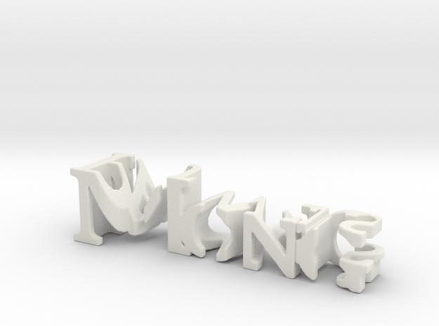 3dWordFlip: Mong/Pauwels in White Natural Versatile Plastic
