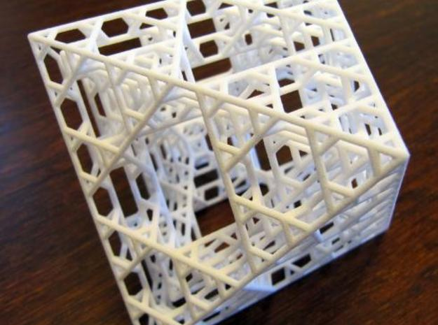 Octahedron fractal graph in White Natural Versatile Plastic