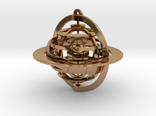 Celestial Globe in Polished Brass (Interlocking Parts)