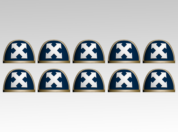 Assault TS V.7 Shoulder Pads x10 in Frosted Extreme Detail
