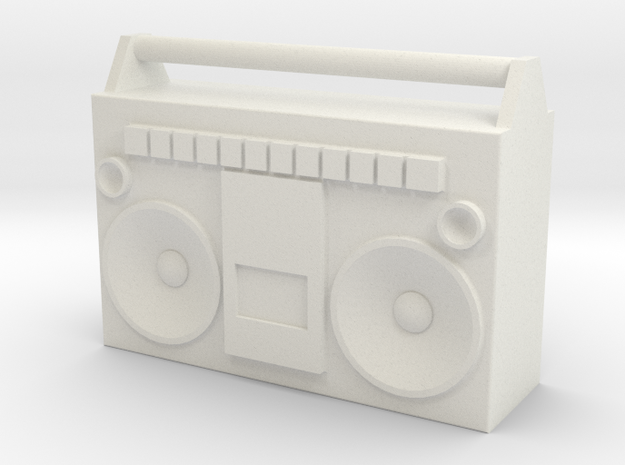 1/24 Scale BoomBox in White Natural Versatile Plastic