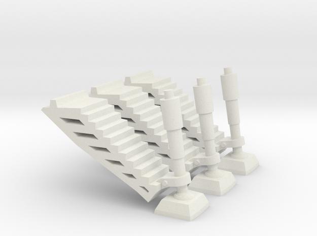 Landing Gear Set - G-580-K in White Natural Versatile Plastic