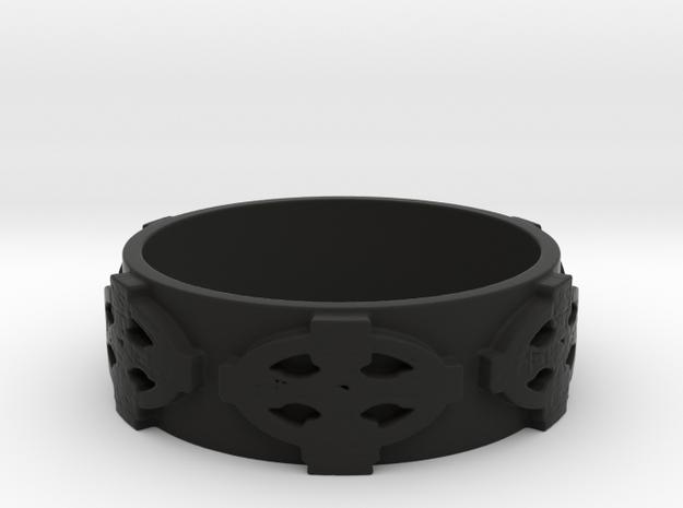 Celtic Cross Ring Size 11 in Black Strong & Flexible