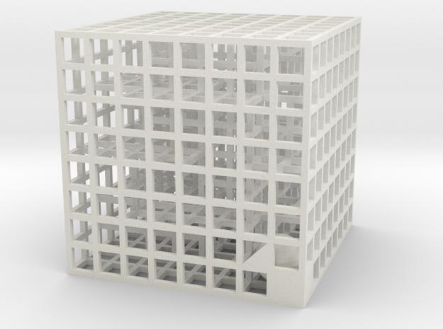 Maze 04, 4x4x4 in White Natural Versatile Plastic