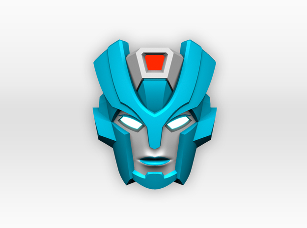 Chromia Faceplate for Titans Return Blurr in Frosted Ultra Detail