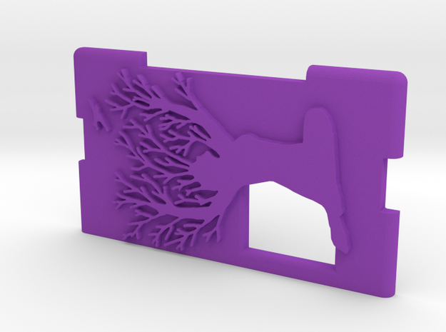 "Kmods Squonker Door mm510  ""Save the forest"" in Purple Processed Versatile Plastic"