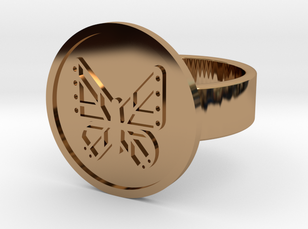 Butterfly Ring in Polished Brass: 10 / 61.5