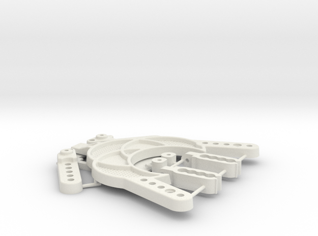 TC02C EVO AZ ALLOY CHASSIS HARDWARES 21th June 17 in White Strong & Flexible