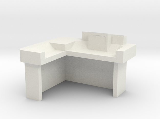Commander's Desk S2 (Space: 1999) 1/30 in White Natural Versatile Plastic
