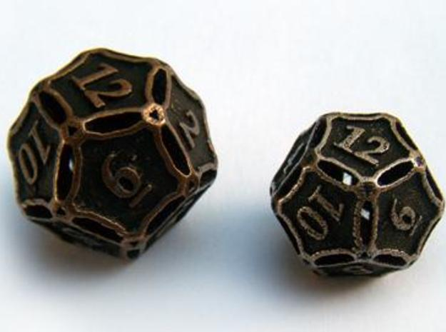 Large Die12 3d printed Compared to a standard-sized Die12