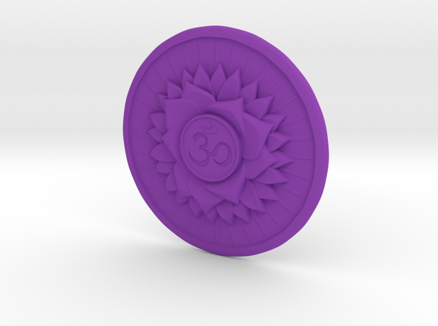Crown Chakra  or Sahaswara in Purple Processed Versatile Plastic