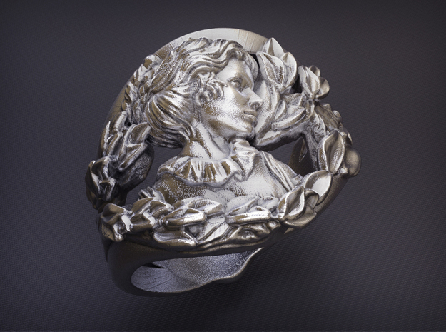 The Artist's Wife Ring in Natural Silver: 8 / 56.75