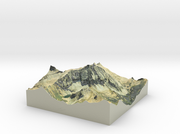 "Capitol Peak Map: 6"" in Glossy Full Color Sandstone"