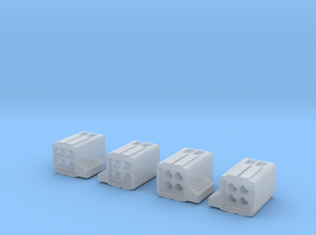 Micro-Missiles 4-pack (no hatches) in Smoothest Fine Detail Plastic