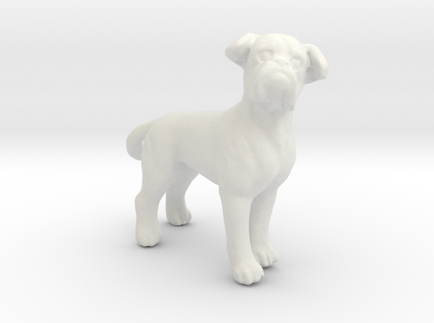 1/24 Pug Adult Dog  in White Strong & Flexible