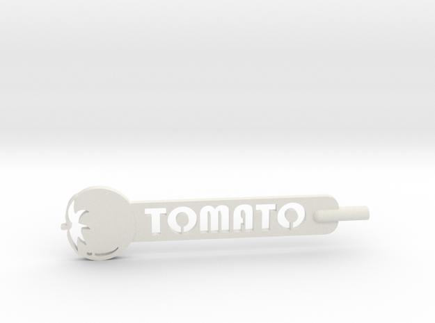Tomato Plant Stake in White Natural Versatile Plastic