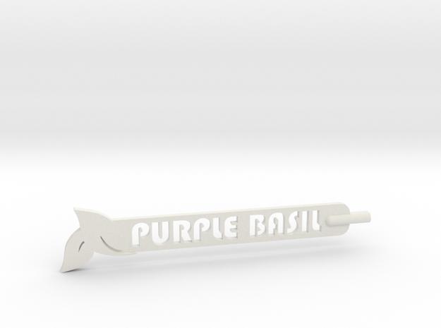 Purple Basil Plant Stake in White Natural Versatile Plastic