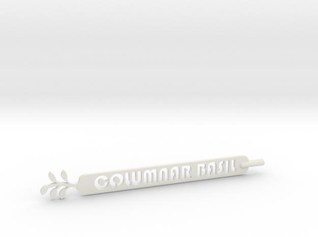 Columnar Basil Plant Stake  in White Natural Versatile Plastic