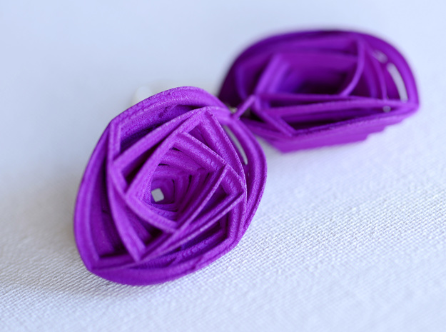 Rose Stripe Earrings 3d printed Add a caption...