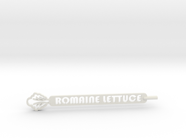 Romaine Lettuce Plant Stake in White Natural Versatile Plastic