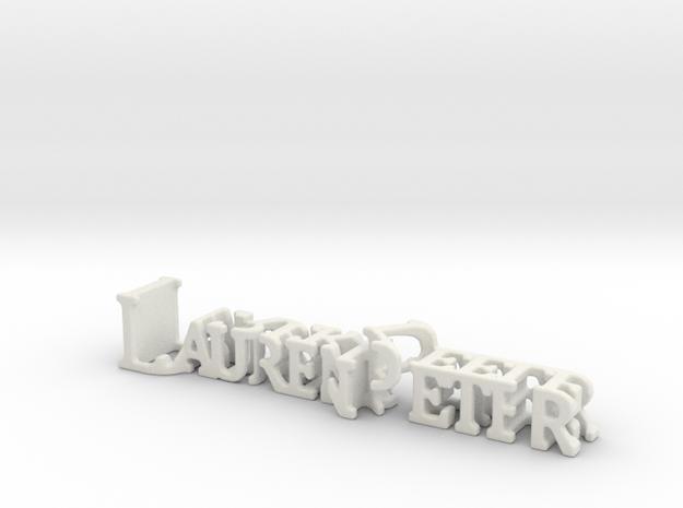 3dWordFlip: LaurenPeter/DerekKeele in White Strong & Flexible