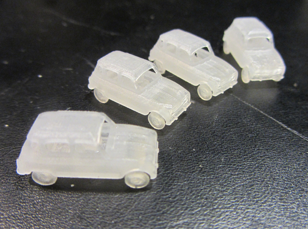 Renault 4 Hatchback 1:160 scale (Lot of 4 cars) 3d printed