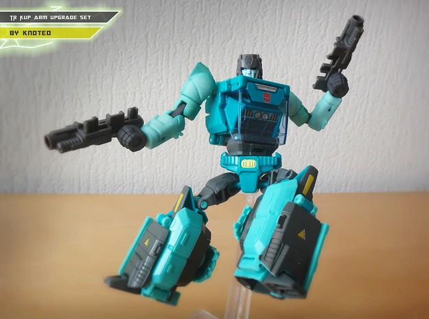 TR Kup Arm Upgrade Set A in White Strong & Flexible Polished