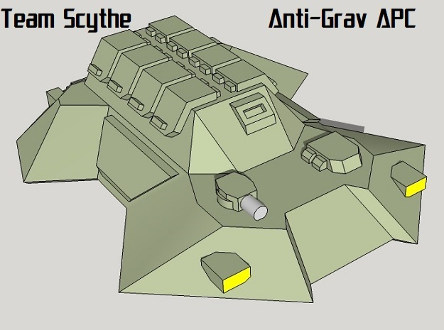 """Team Scythe"" 3mm Anti-Grav APC Pack (24pcs) in Frosted Ultra Detail"