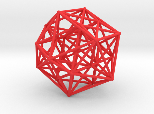 24-Cell with Ghost Symmetry in Red Processed Versatile Plastic