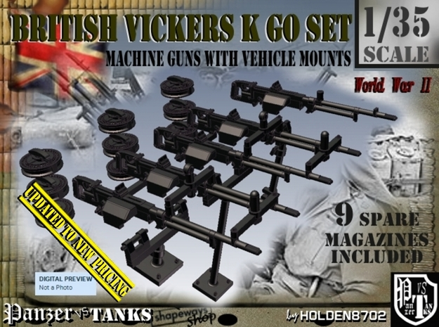 1/35 Vickers K GO Set001 in Frosted Ultra Detail