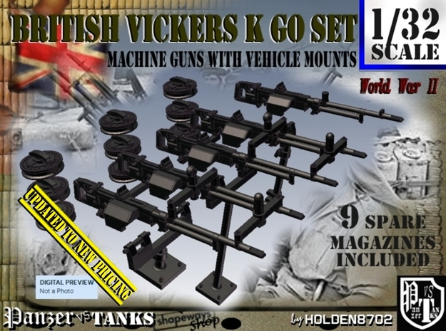 1/32 Vickers K GO Set001 in Frosted Ultra Detail