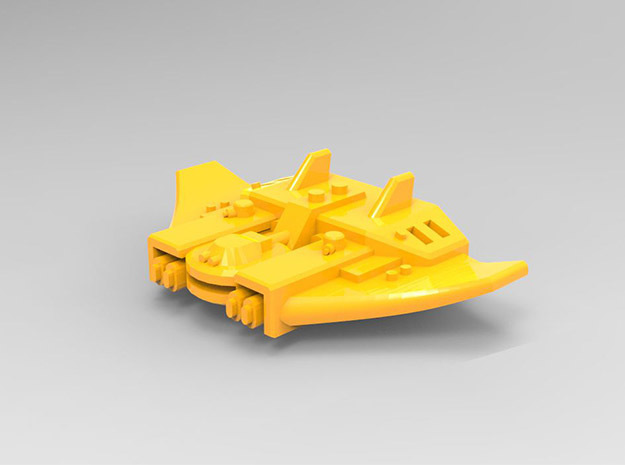 Guardian class Escorts set in Yellow Processed Versatile Plastic: Small