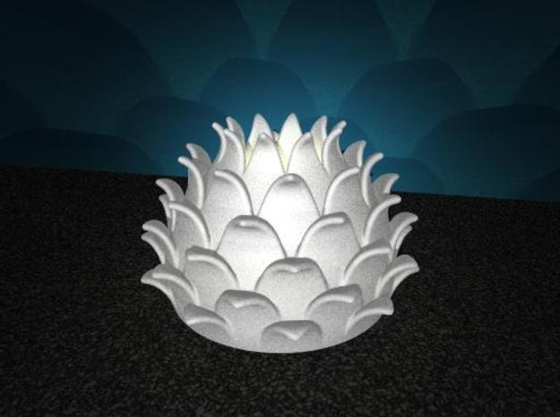 Thistle Tea Light Cover (thinner) 3d printed