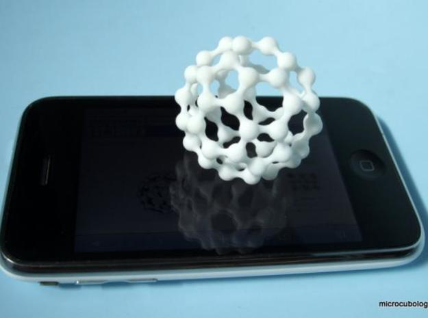 MetaBuckyBall 3d printed White, Strong and Flexible