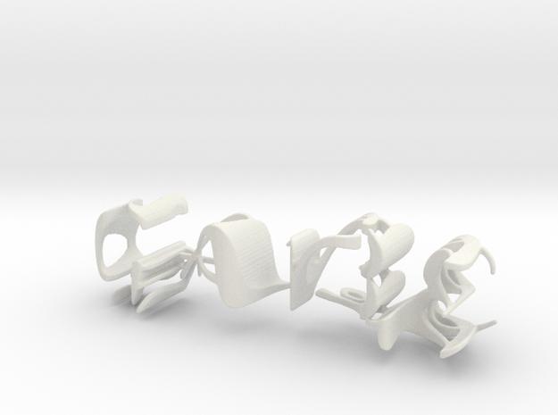 3dWordFlip: GABE/NAGY in White Strong & Flexible