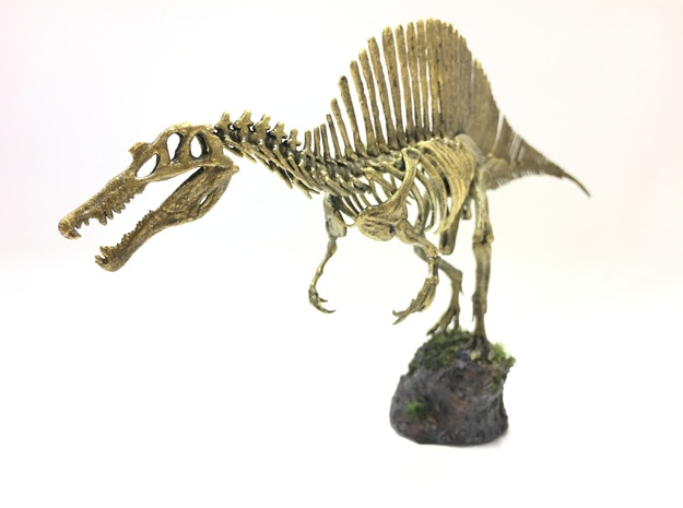 Spinosaurus Skeleton in White Natural Versatile Plastic
